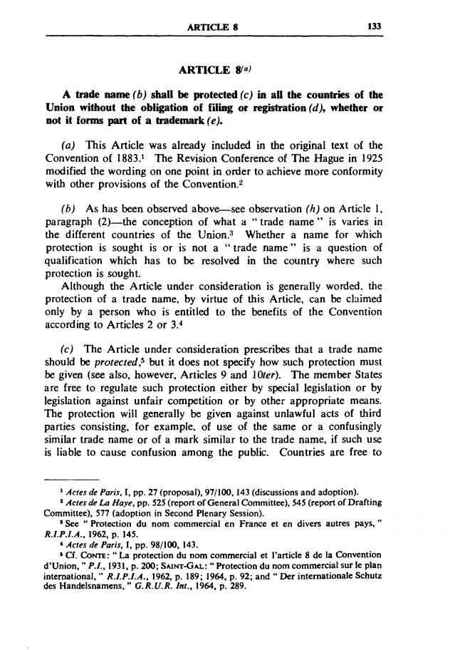 articol 8, conventia de la paris