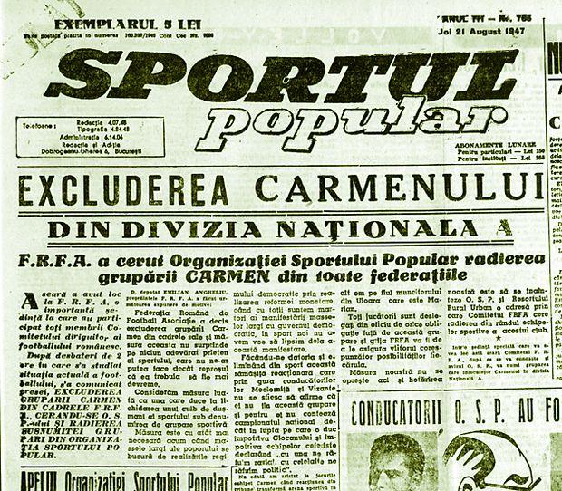 sportul popular carmen bucuresti