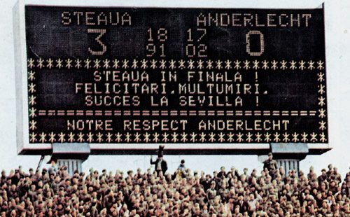 Steaua Bucuresti RSC Anderlecht
