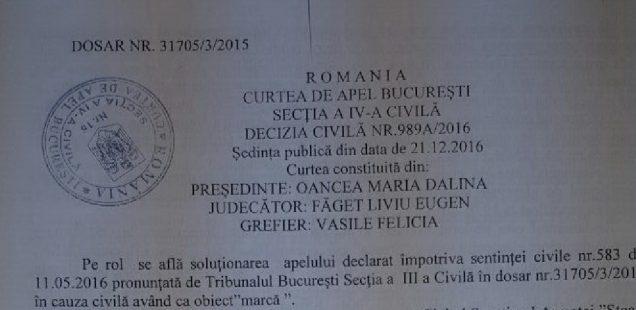 """In exclusivitate - Motivarea deciziei din dosarul """"Numele Steaua"""""""