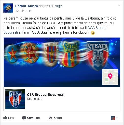 fcsb nu e Steaua