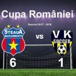 steaua bucuresti v.k. soccer 6-1