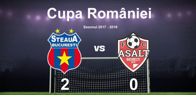 steaua afc asalt 2-0 cupa romaniei
