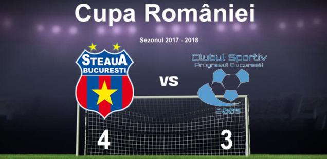 Steaua Bucuresti, CS Progresul 2005, Cupa Romaniei