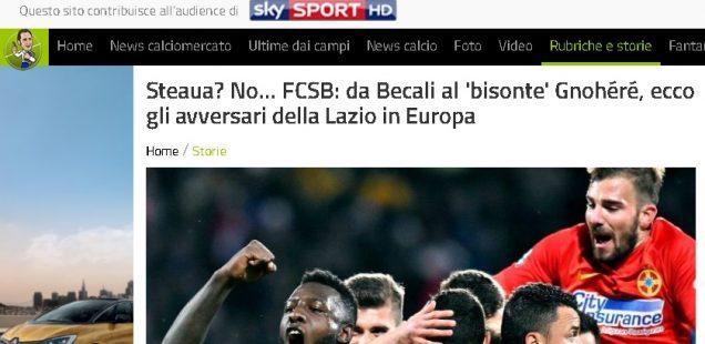 presa din italia fcsb nu e Steaua