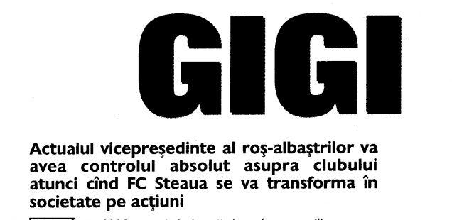 Cum a fortat Gigi Becali infiintarea SA-ului in care era actionar majoritar - Partea 2