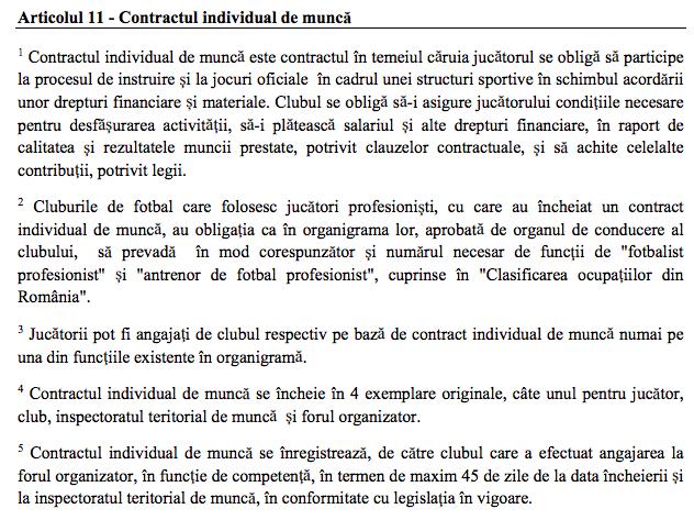 regulamentul privind statutul si transferul jucatorilor de fotbal