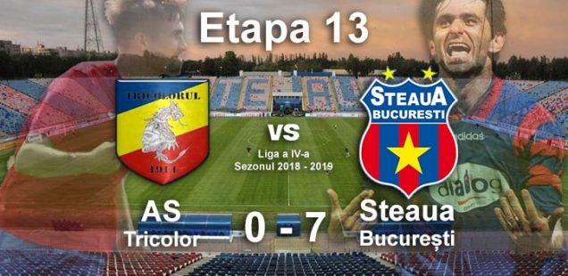 as tricolor steaua bucurești 0-7
