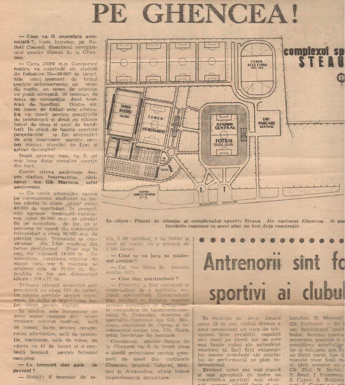 inaugurarea stadionului Steaua