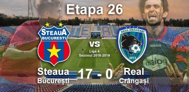 Steaua București Real Crângași 17-0