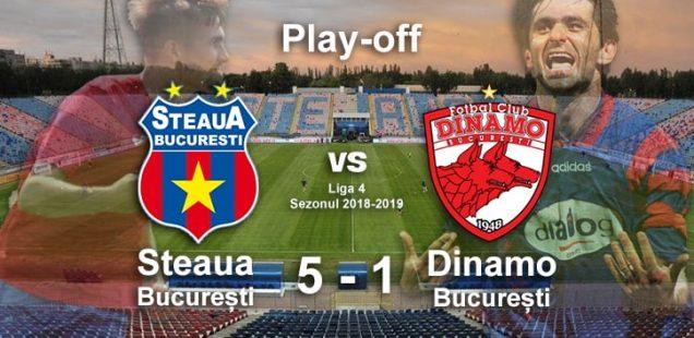 play-off Steaua Dinamo București 5-1