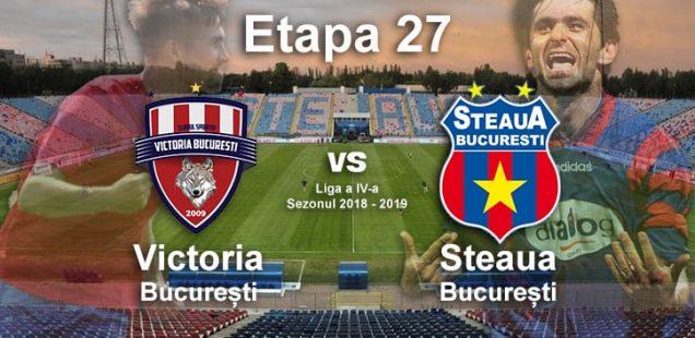 Avancronică: Victoria București - Steaua București