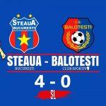 Steaua București CS Balotești 4-0 Cupa României