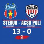 Steaua București - ACSU Politehnica 13-0