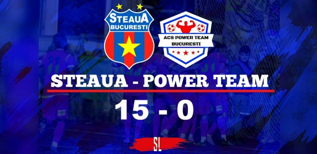 Steaua București - ACS Power Team 15-0