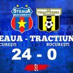 Steaua București - AS Tracțiunea 24-0