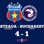 Steaua București - Bucharest United 4-1