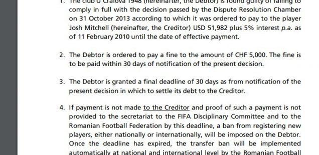 FIFA a dovedit din nou că nu respectă legile