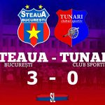 Steaua București - CS Tunari 3-0