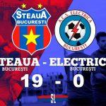 Steaua București - ACS Electrica 19-0