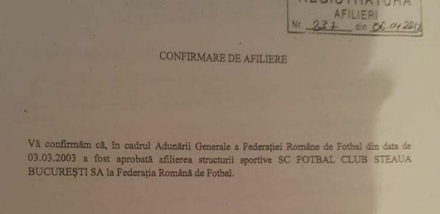afiliere fotbal club fcsb