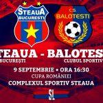 Steaua București - CS Balotești cupa romaniei