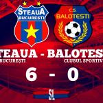 Steaua București CS Balotești 6-0 Cupa României