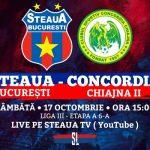 Avancronică: Steaua București - Concordia Chiajna 2