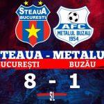 Steaua București Metalul Buzău 8-1