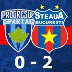 progresul spartac steaua bucurești 0-2