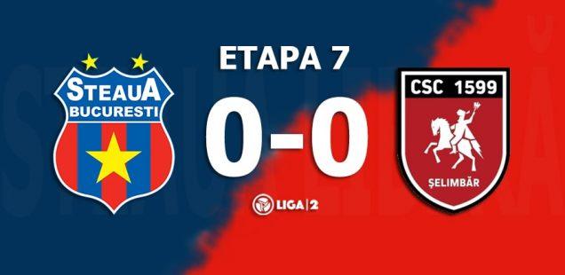 Steaua București - CSC 1599 Șelimbăr, 0-0 (0-0)